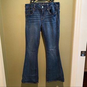 American Eagle Boho Artist Flare Jeans, 8 short